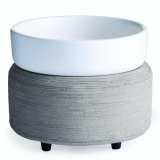 GRAY 2-in1 Classic Duftlampe grau/creme aus Keramik elektrisch